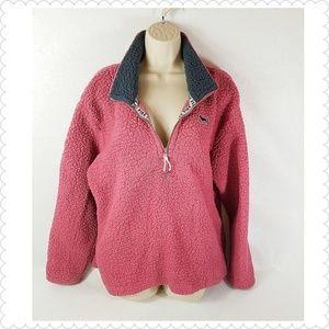 Victorias Secret Pink Sherpa Sweater Large Salmon